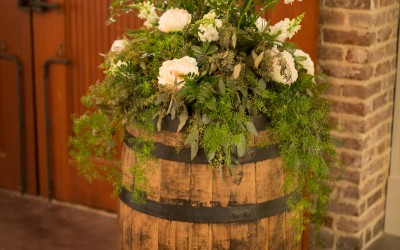 barrel-with-flowers