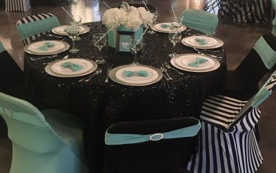 tiffany&co. table set up