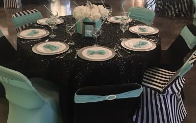 tiffany&co. table set up