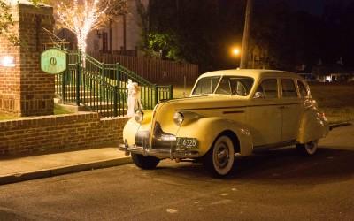yellow antique car